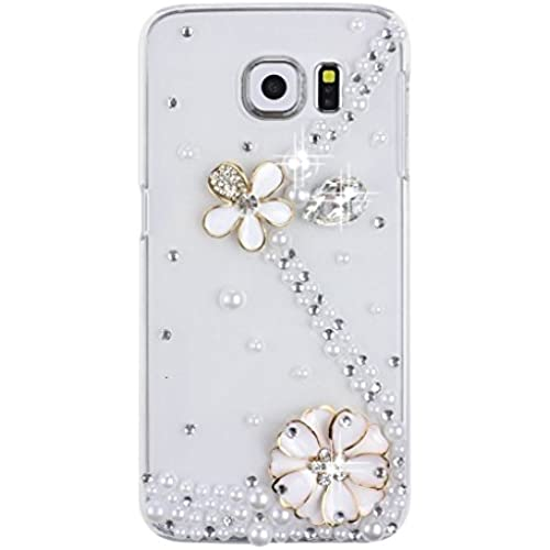 Samsung Galaxy S7 Edge Case, Sense-TE Luxurious Crystal 3D Handmade Sparkle Diamond Rhinestone Clear Cover with Retro Bowknot Anti Dust Plug - S-Link Sales