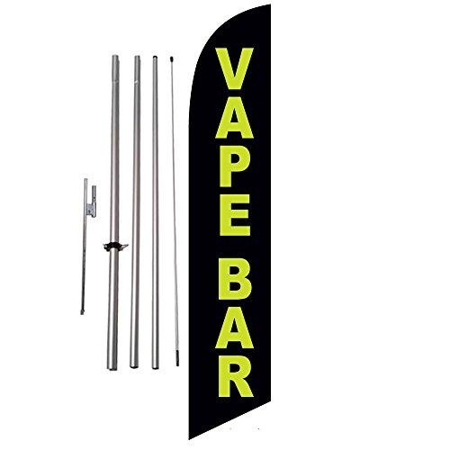 E-Cigarettes Vape Bar Feather Banner Flag Set - INCLUDES 15FT POLE KIT w/HARDWARE