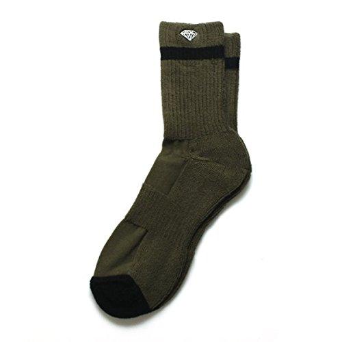 Diamond Supply Co–Pro Diamond socks- oliva