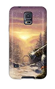 Galaxy S5 Case Cover - Slim Fit Tpu Protector Shock Absorbent Case (dwarf Hunter In Ironforge)