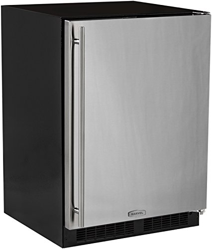 AGA Marvel ML24FAS1RS Under-Counter Freezer with Lock, Stainless Steel Right Hinged Door, 24-Inch by Marvel