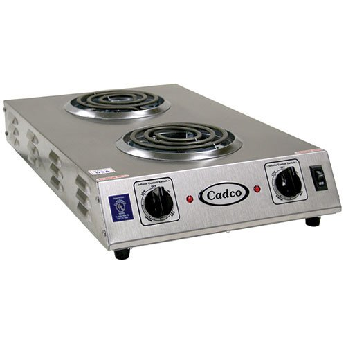 Cadco CDR-1TFB Space Saver Double 120-Volt Hot Plate ()