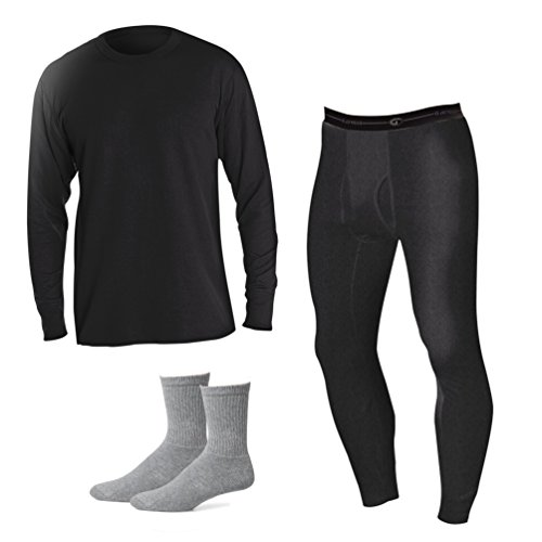 Duofold Men's Mid Weight Thermal Underwear Set + Free Sock