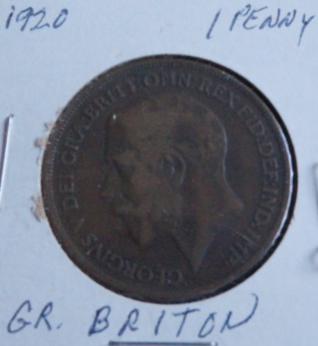 Extremely Rare Coin 1920 Great Britain England Large Bronze Penny Collectible Coin (Penny Coin Bronze)