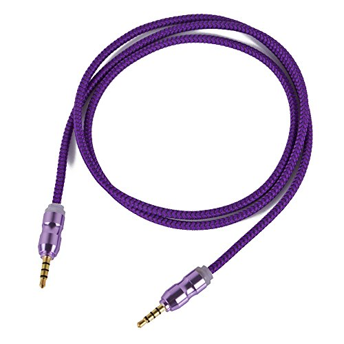 Asamoom 3.5mm Aux Cable Male to Male Stereo Audio Cable (1m) for Headphones iPods iPhones iPads Speaker Car Stereos (Purple)