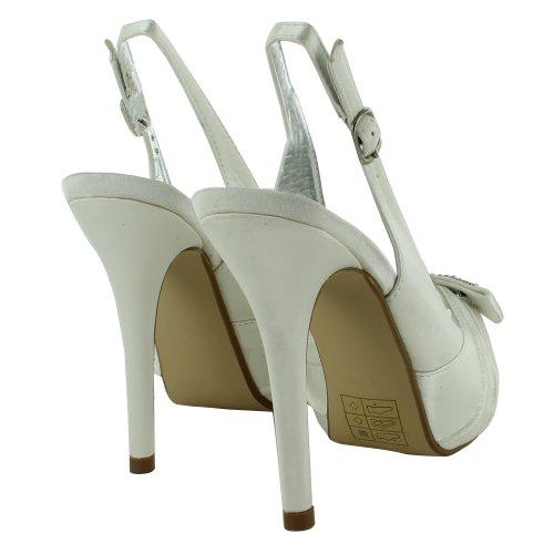 Footwear Sensation - Zapatos destalonados mujer Blanco - Ivory