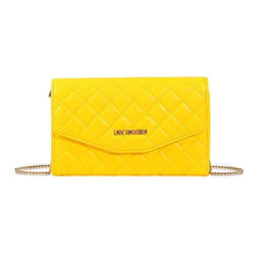 Love Moschino shoulder bag Nappa Pu quilted yellow