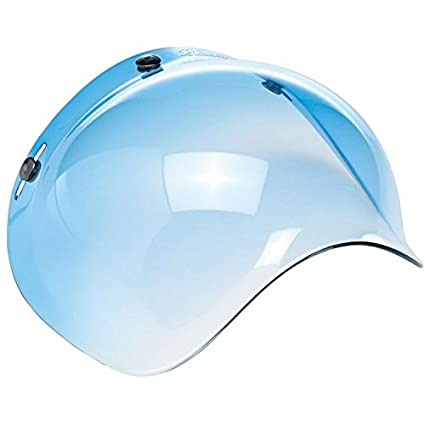3-Snap Fitment Clear Universal Retro Bubble Shield Visor For Open Face Motorcycle Helmets