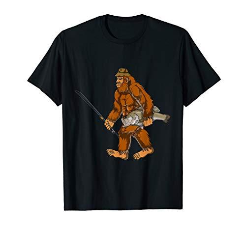 Bigfoot Bass Fishing Gear Sasquatch Men Gifts Kids T Shirt