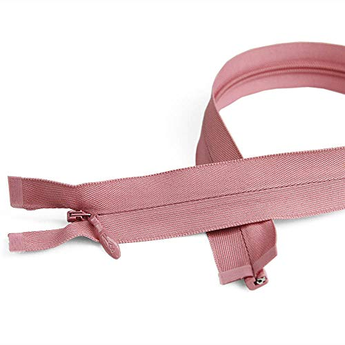 "Size #5 Invisible Separating Zippers, 16"" Length, Tea Rose Pink, Bias Bespoke Brand"