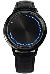 Fashion Cool Touch Screen LED Binary Wrist Watch for Men