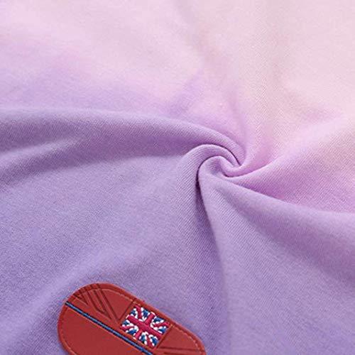 Tops Col écharpe Femme Rose Imprimé Blouse Manches BaZhaHei Pull Sweat Shirt à Patchwork Chemisier Longues wXvpqIvxA