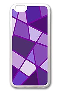 iPhone 6 Cases, Personalized Protective Case for New iPhone 6 Soft TPU Clear Edge Purple Rhombus