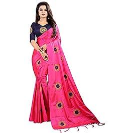 Online Bazaar Women's Banarasi Paper Silk Saree With Un-stitched Blouse