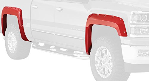 Bushwacker 40957-14 Summit White Fender Flare for Chevrolet, (Set of 4)