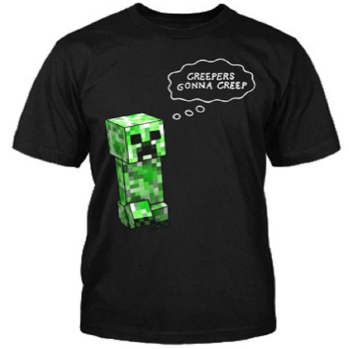 Jinx Minecraft Creepers Gonna Creep Creeper Youth Black T...