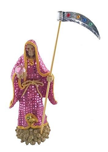 (14 Inch Statue of La Santa Muerte Pink Holy Death Grim Reaper Rosada Imagen)