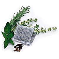 Moth Away Sachets - Nontoxic - 72 Pack (White) (6 sets of 12 Sachets) - Fresh mint scent by Richards Homewares
