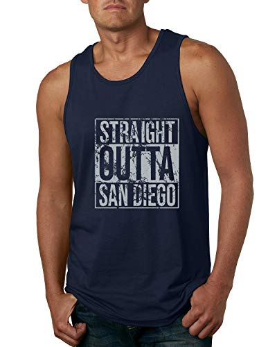 Wild Bobby Straight Outta San Diego SD Fan | Fantasy Baseball Fans | Mens Sports Graphic Tank Top, Navy, 2XL (Best Horseback Riding In San Diego)