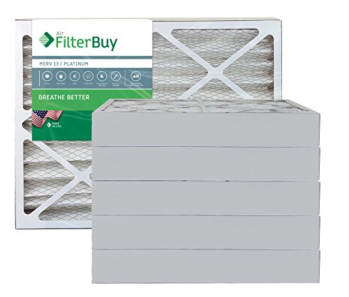 AFB Platinum MERV 13 15x30x4 Pleated AC Furnace Air Filter. Pack of 6 Filters. 100% produced in the USA.