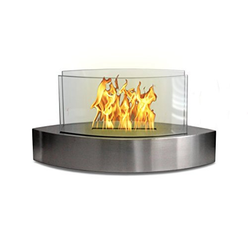 Lexington Fireplace - Anywhere Fireplace - Lexington Tabletop Bio Ethanol Clean Burning Eco Friendly Fireplace in Stainless Steel