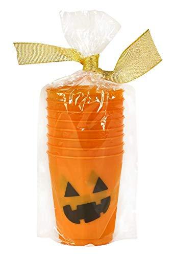 Jello Shots Tequila Drinks Shot Glasses Halloween Drinks Halloween Decorations 4oz Pk 16 Pumpkin]()