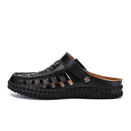 da pelle da spiaggia sportivi Sandali uomo scarpe in Black estivi spiaggia Sandali Sandali all'aperto da da pescatore B0q55xF