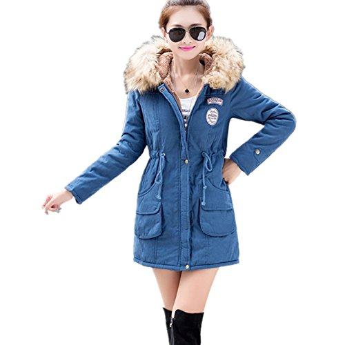 Newbestyle - Abrigo - para mujer Azul