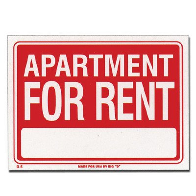 Apartment For Rent Sign, Each (Halloween Rent)