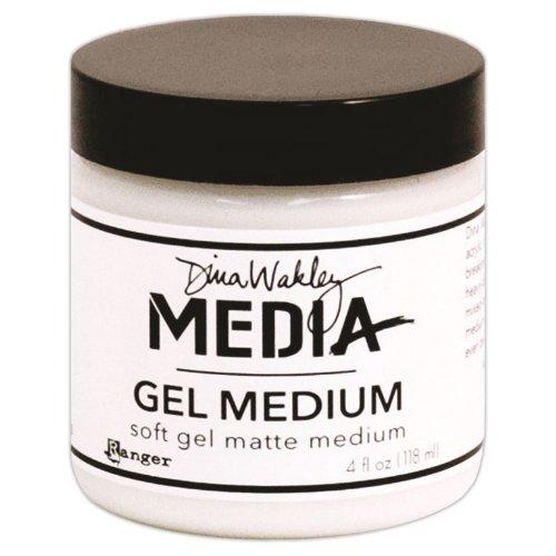 - Dina Wakley Media Gel Medium 4oz Jar, Matte Finish