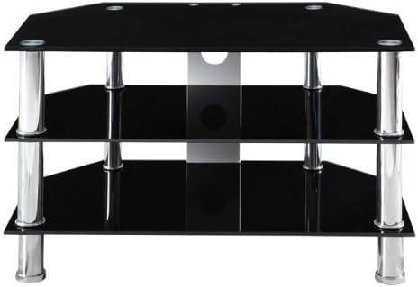 Estanteria diseño cristal para TV LCD Plasma negro mesa rack ...