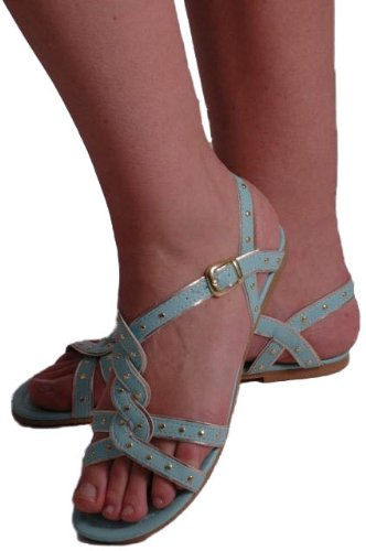 EyeCatchShoes - Aphrodite Studded Gladiator Sandals Mint l1ggtbs1X