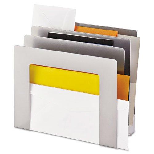 SteelMaster - Vertical Slant Organizer, 4-Compartment, 9 1/2 x 4 x 9 1/4, Silver 2643S9450 (DMi EA