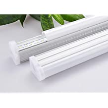 Dimmable LED T5 Integrated Tube Light, Under Cabinet Light, 1FT/2FT/3FT/4FT, Frosted Cover, Pure White 5000K/Warm White 3000K, AC110V Input, 105 lm/W, UL Qualified (4 ft, 5000K Pure White)