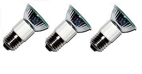 (Pack of 3, LSE Lighting E27 50W Bulbs for Zephyr Milano Europa Hoods 75mm )