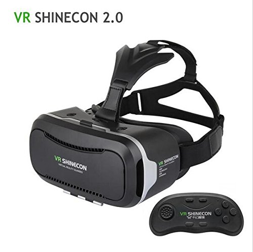 Globular Shinecon VR Virtual Reality Headset Smart Phone 3D Movies Games Video Glasses with Bluetooth Remote Controller