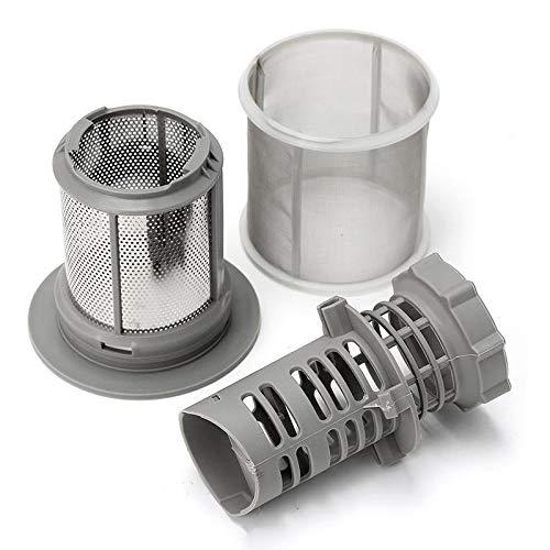 BIRD WORKS Juego de filtros de malla para lavaplatos, 2 partes, gris PP para lavavajillas Bosch 427903 Serie 170740 Reemplazo...