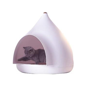 Hermoso invierno cálido perro gato con perrera desmontable Cachemira interior, casa de mascotas lavable para