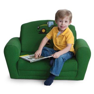 Image of John Deere Green Kids Sleepover Chair