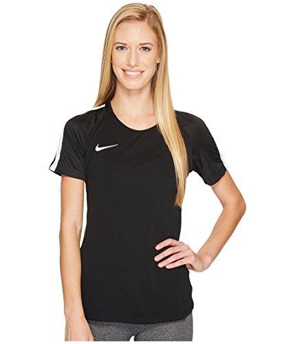Nike Women's Dry Academy Short Sleeve Soccer Top Black White - Nike Short Sleeve Football Tee