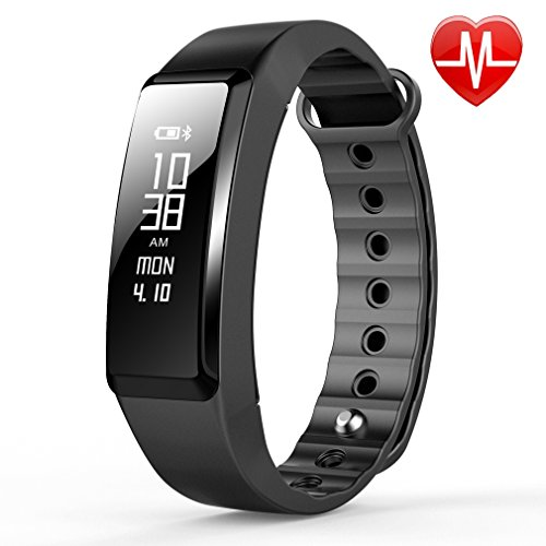 Beasyjoy Fitness Tracker with Heart Rate Monitor Waterproof Smart Band Pedometer Wristband Sport Bracelet Run or Walk Step Counter Exercise Distance Calorie for IPhone and Android Phone