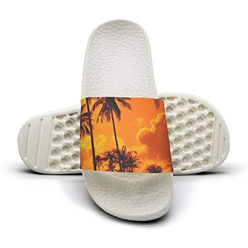 Palm Summer Sunset Coconut Indoor Sand for HSJDAPOCOAQ Palms Women Beach Silhouette with qtwxdYO