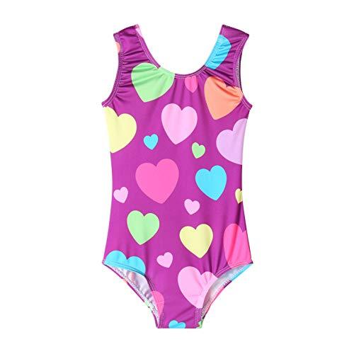 QoozZ Girls' Heart Gymnastics Leotard