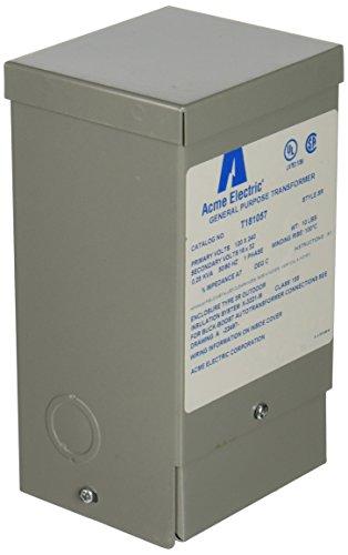 Hubbell Acme Electric T181057 Buck-Boost Transformer, 1 Phase, 60 Hz, 0.25 kVA, 120V x 240V Primary Volts, 16V/32V Secondary Volts by Hubbell Acme Electric