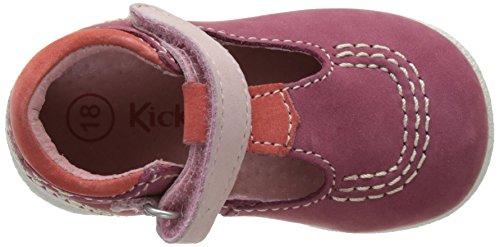 Kickers Babyfresh - Primeros Pasos de Otra Piel Bebé-Niños Rose (Rose Foncé Violet Clair)