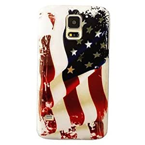 JJE The United States Flag Pattern Plastic Hard Mobile Phone Case for Samsung Galaxy S5 I9600