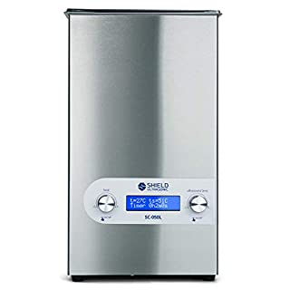 Shield Ultrasonic SC-050L – Professional Ultrasonic Cleaner and Parts Cleaner, Stainless Steel, Heating, Digital, 25kHZ…