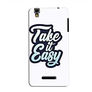 Cover It Up - Take It Easy YU Yureka Hard Case