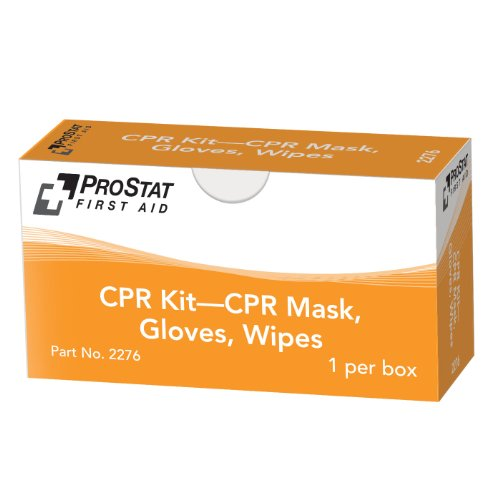 - ProStat 2276 CPR Microshield, Gloves, and Antiseptic Wipes Kit