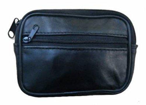 Monedero con cremallera (piel), color negro Negro - negro